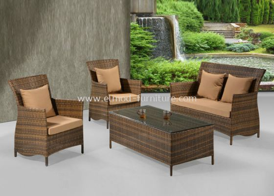 1039 ARTIFICAL CANE SOFA SET (1+1+2)+1