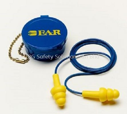 <3M> E-A-R UltraFit Premolded Reusable Corded Earplugs in Carrying Case