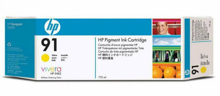HP 91 ORIGINAL YELLOW INK CARTRIDGE (C9469A) COMPATIBLE TO HP PRINTER Z6100