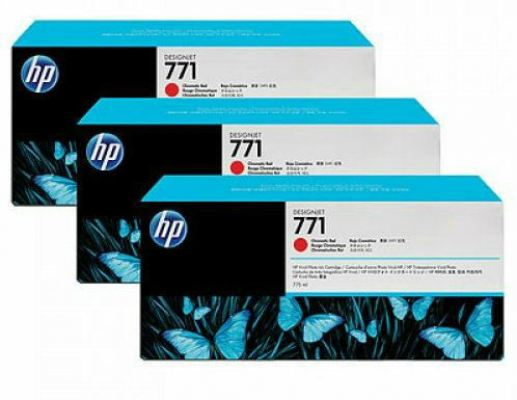 HP 771B ORIGINAL MAGENTA 3 PACK INK CARTRIDGE (B6Y25A) COMPATIBLE TO HP PRINTER Z6200