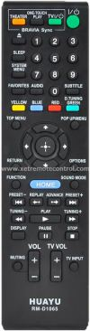 RM-D1065 SONY HOME THEATER REMOTE CONTROL SONY HOME THEATER REMOTE CONTROL