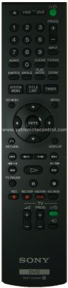 RMT-D249P SONY HDD DVD RECORDER REMOTE CONTROL SONY  DVD REMOTE CONTROL