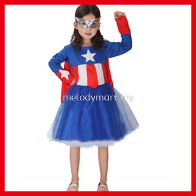 Captain American Kid Girl - 1010 0301
