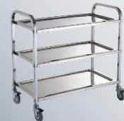 BJY-3TDT-KDM (Medium) Stainless Steel Dining Trolley Stainless Steel Fabrication