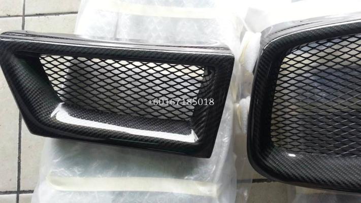 subaru impreza gdb 2006 upper grille mesh real carbon fiber material