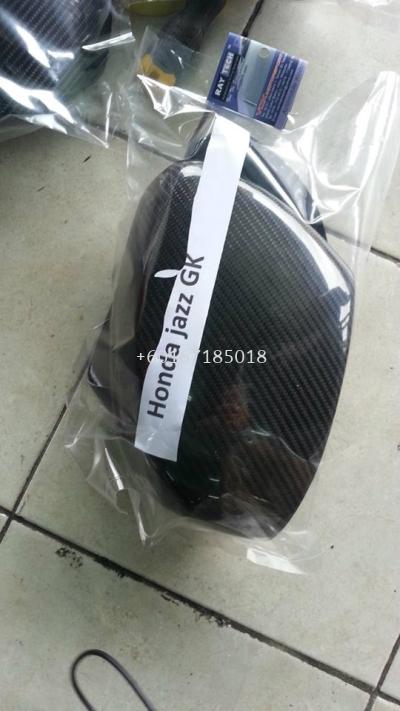 honda jazz 2015 side mirror cover carbon fiber