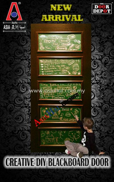 Creative DIY Blackboard Door