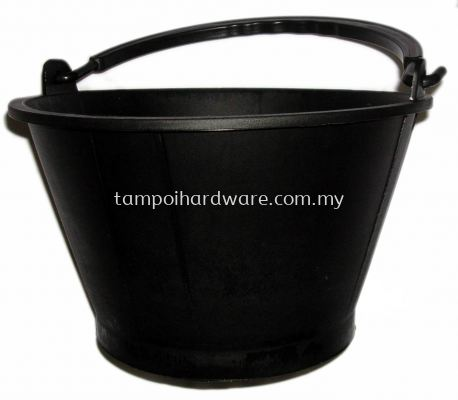 Black Plastic Cement Pail