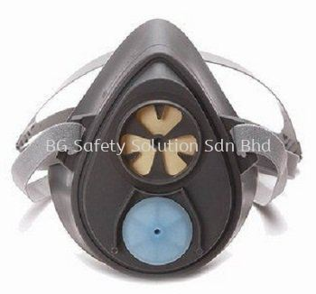 <3M> 3200 Half Face Mask Respirator, Single Cartridge