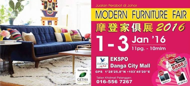 Modern Furniture Danga City Expo Johor Bahru 1-3 Jan 2016