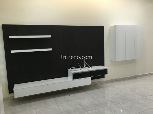 We are specialist in Custom made Tv console with cabinet design (FREE QUOTATION)