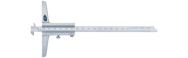 Standard gage - Depth calipers - with vernier and fixed stop plate Calipers Small Dimensional Gauging