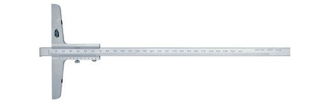 Standard gage - Depth calipers -  with vernier and rotary stop plate Calipers Small Dimensional Gauging
