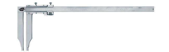 Standard gage - Vernier calipers - round edge, long jaws Calipers Small Dimensional Gauging