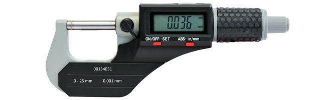 Standard gage - External micrometers - Electronic Micrometer IP54, Digital, External Micrometers Small Dimensional Gauging