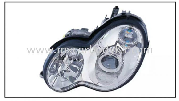 MERCEDES BENZ C-CLASS W203 HEAD LAMP CRYSTAL PROJECTOR W/VACUUM HEAD LAMP ACCESSORIES AND AUTO PARTS