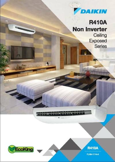 Daikin R410a Non-Inverter Ceiling Exposed Series Air-Conditioner (GA Range)