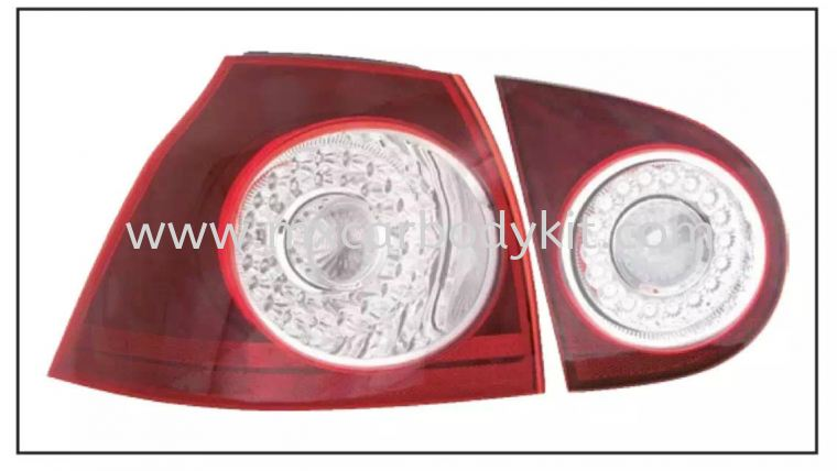 VOLKSWAGEN GOLF MK5 REAR LAMP CRYSTAL LED RED / CLEAR TAIL LAMP ACCESSORIES AND AUTO PARTS