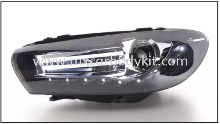 VOLKSWAGEN SCIROCCO MK3 HEAD LAMP PROJECTOR W/LED HEAD LAMP ACCESSORIES AND AUTO PARTS