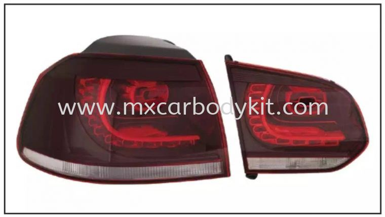 VOLKSWAGEN GOLF MK6 REAR LAMP CRYSTAL LED RED / CLEAR TAIL LAMP ACCESSORIES AND AUTO PARTS