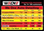 We One Auto Detailing Polish Leather Care and Engine Wash