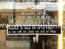 Business as usual on 1st may 2012 Others