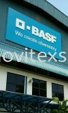 factory sign in 3D Aluminium lettering on Alucobond Base  Factory sign