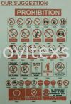 no entry sign/ emergency or safety sign  Factory sign