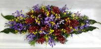 Orchid long and low table arrangement (BA-105) Long And Low Flower Arrangement Basket Arrangement