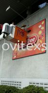 cleaning n washing signboard with protection coating / note: yearly contract   Installation / Dismantle and Washing Services