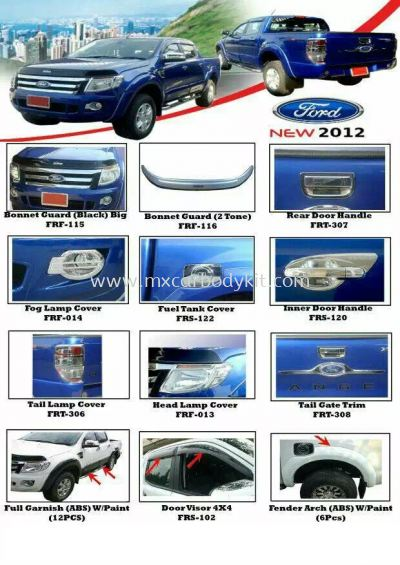 FORD NEW 2012 CAR ACCESSORIES & PARTS