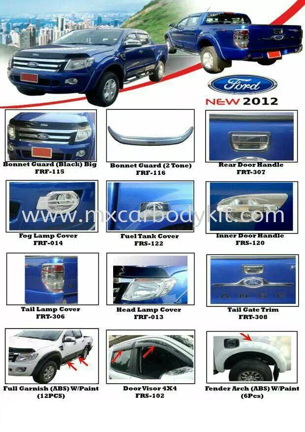 FORD NEW 2012 CAR ACCESSORIES & PARTS FORD RANGER 4 X 4