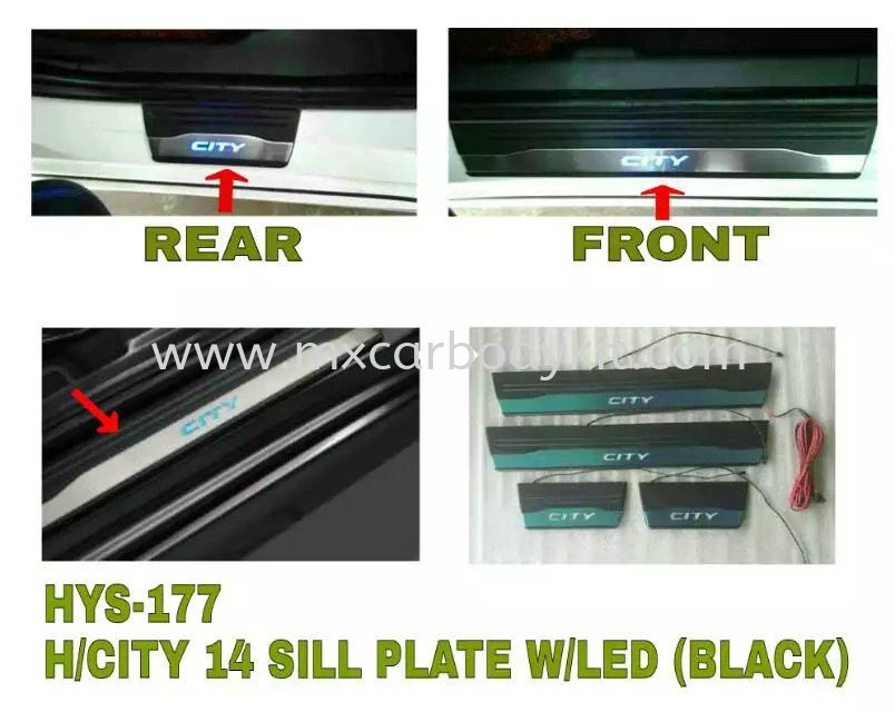 HONDA CITY 2014 SILL PLATE W/LED (BLACK) SIDE SILL PLATE ACCESSORIES AND AUTO PARTS Johor, Malaysia, Johor Bahru (JB), Masai. Supplier, Suppliers, Supply, Supplies | MX Car Body Kit