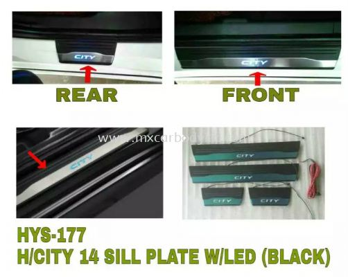 HONDA CITY 2014 SILL PLATE W/LED (BLACK)
