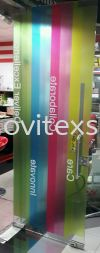 printing on clear sticker office  decoration  Glass Display
