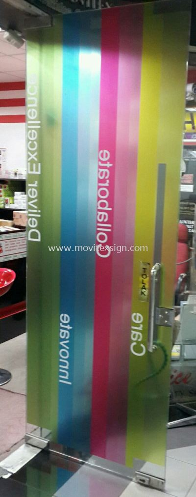 printing on clear sticker office  decoration