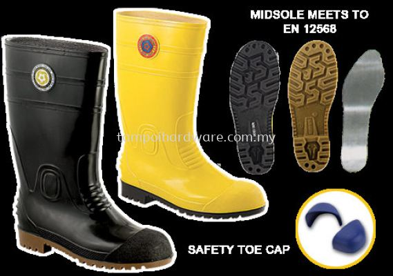 8000# Rubber Boot With Sock with Steel Toe Cap