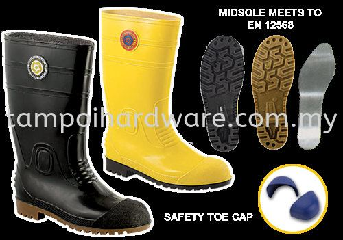8000# Rubber Boot With Sock with Steel Toe Cap Footware Personal Protective Equipments