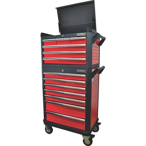 """KENNEDY 2016 NEW RED-28"""" 6 DRAWER PROFESSIONAL TOP CHEST"""