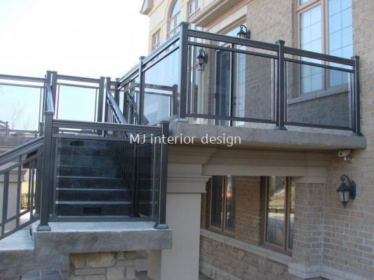 Balcony glass and staircase glass
