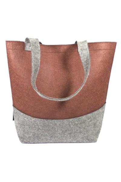 Duo-Tone Shopping Bag (Brown)