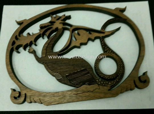 3D wood cutting n  laser  engraving layer