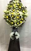 Lily Funeral Flower Arrangement (FA-125) Sympathy / Condolences Flower Arrangement Funeral Arrangement