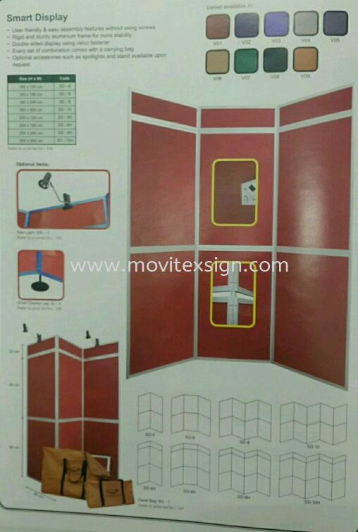 Exhibition board ready made /display board poterble system  White board /Exhibition pannel /Ness Racks and others Johor Bahru (JB), Johor, Malaysia. Design, Supplier, Manufacturers, Suppliers | M-Movitexsign Advertising Art & Print Sdn Bhd