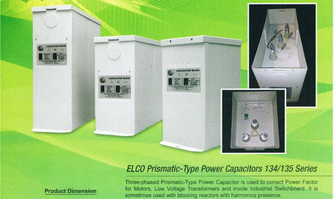 ELCO Box Type Capacitor Bank Series 134/135