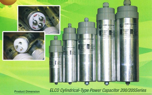 ELCO 200 SERIES 1.5 KVAR CYLINDER TYPE CAPACITOR BANK 440V C/W 1MTR WIRE (WEIGHT-565G)