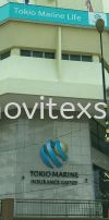 LED logo with backlight for corporate building signboard (click for more detail) LED Signage LED Signage and Neon Signboard