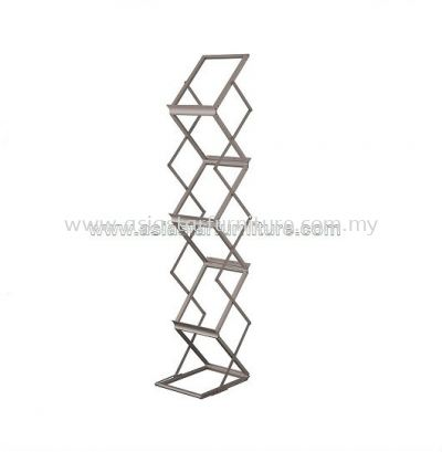 LT 361A FOLDABLE 7 TIER CLEAR TRAY MAGAZINE HOLDER