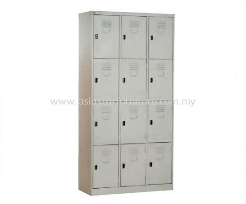 A108-A 12 COMPARTMENT STEEL LOCKER