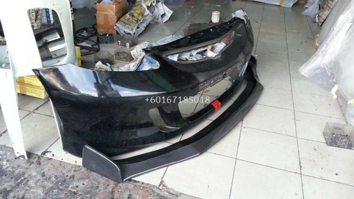 2003 2004 2005 2006 2007 honda fit jazz gd js racing front lip diffuser for jazz fit gd type s add on add on upgrade performance look real carbon fiber frp material new set